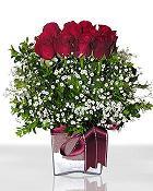 Ağrı çiçek , çiçekçi , çiçekçilik  11 adet gül mika yada cam - anneler günü seçimi -
