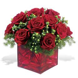 Ağrı çiçek yolla  9 adet kirmizi gül cam yada mika vazoda