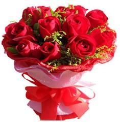 9 adet kirmizi güllerden kipkirmizi buket  Ağrı çiçekçiler