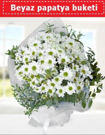 Beyaz Papatya Buketi  Ağrı 14 şubat sevgililer günü çiçek