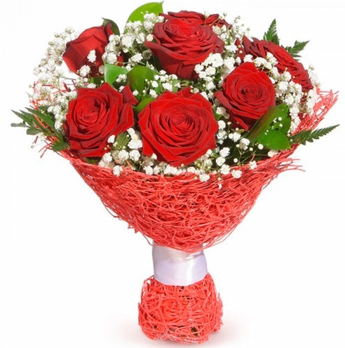 7 adet kırmızı gül buketi  Ağrı çiçekçiler