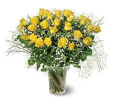 Ağrı çiçek siparişi sitesi  15 adet sarigül mika yada cam vazoda