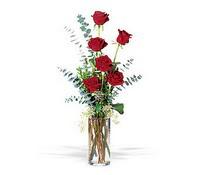 Ağrı hediye çiçek yolla  cam yada mika vazoda 6 adet kirmizigül