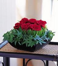 Ağrı çiçek siparişi sitesi  10 adet kare mika yada cam vazoda gül tanzim