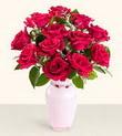 Ağrı hediye çiçek yolla  10 kirmizi gül cam yada mika vazo tanzim