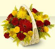 Ağrı 14 şubat sevgililer günü çiçek  sepette mevsim çiçekleri