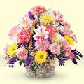 Ağrı uluslararası çiçek gönderme  sepet içerisinde gül ve mevsim