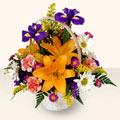 Ağrı 14 şubat sevgililer günü çiçek  sepet içinde karisik çiçekler