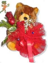 oyuncak ayi ve gül tanzim  Ağrı çiçekçiler