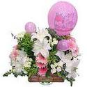 balon ve çiçeklerle tanzim  Ağrı internetten çiçek satışı