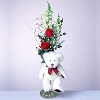2 adet gül ve panda özel  Ağrı çiçekçi mağazası
