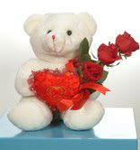 3 adetgül ve oyuncak   Ağrı online çiçekçi , çiçek siparişi