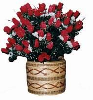 yapay kirmizi güller sepeti   Ağrı kaliteli taze ve ucuz çiçekler
