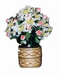 yapay karisik çiçek sepeti   Ağrı çiçek servisi , çiçekçi adresleri