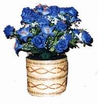 yapay mavi çiçek sepeti  Ağrı cicekciler , cicek siparisi