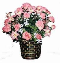 yapay karisik çiçek sepeti  Ağrı çiçek online çiçek siparişi