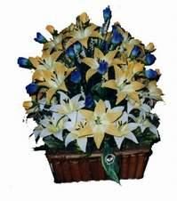 yapay karisik çiçek sepeti   Ağrı çiçek gönderme