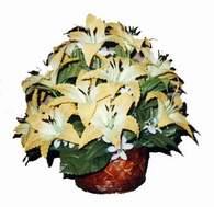 yapay karisik çiçek sepeti   Ağrı çiçek siparişi sitesi