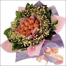 11  adet  gül ve   elyaflar   Ağrı çiçekçi mağazası
