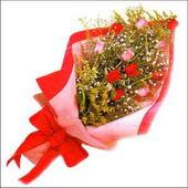 12 adet renkli  gül buketi   Ağrı çiçekçi mağazası