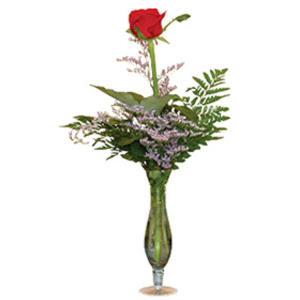 vazo içerisinde tek gül   Ağrı çiçek gönderme sitemiz güvenlidir