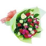 12 adet renkli gül buketi   Ağrı çiçek gönderme sitemiz güvenlidir