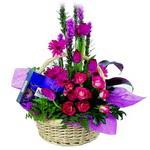 çikolata ve sepette çiçek   Ağrı çiçek gönderme sitemiz güvenlidir