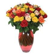 51 adet gül ve kaliteli vazo   Ağrı çiçek gönderme sitemiz güvenlidir