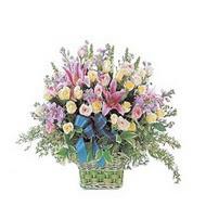 sepette kazablanka ve güller   Ağrı çiçek gönderme