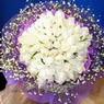 71 adet beyaz gül buketi   Ağrı çiçek , çiçekçi , çiçekçilik
