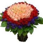 71 adet renkli gül buketi   Ağrı ucuz çiçek gönder