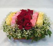 15 adet reprenkli gül sepeti   Ağrı çiçek yolla