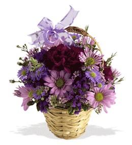 Ağrı uluslararası çiçek gönderme  sepet içerisinde krizantem çiçekleri