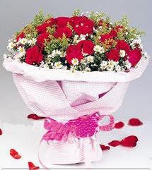Ağrı internetten çiçek satışı  12 ADET KIRMIZI GÜL BUKETI