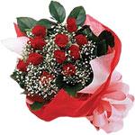 Ağrı internetten çiçek satışı  KIRMIZI AMBALAJ BUKETINDE 12 ADET GÜL