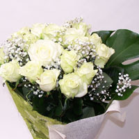 Ağrı hediye çiçek yolla  11 adet sade beyaz gül buketi