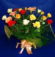 Ağrı hediye çiçek yolla  13 adet karisik renkli güller