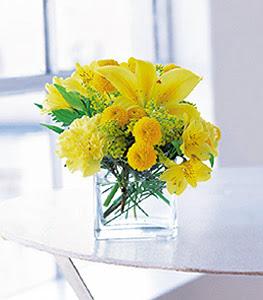Ağrı ucuz çiçek gönder  sarinin sihri cam içinde görsel sade çiçekler