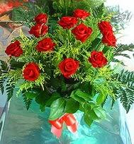 12 adet gül buketi  Ağrı anneler günü çiçek yolla