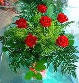 6 adet kirmizi gül buketi   Ağrı online çiçek gönderme sipariş