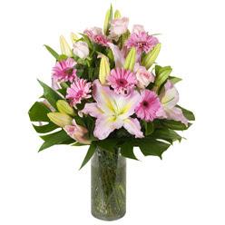 vazo içerisinde karisik mevsim çiçekleri  Ağrı internetten çiçek siparişi