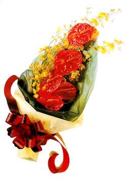 özel 5 adet antorium buketi   Ağrı çiçek gönderme sitemiz güvenlidir