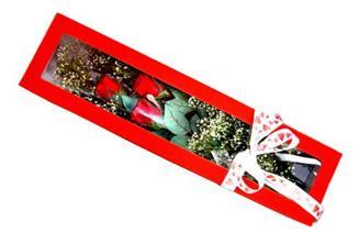 Ağrı hediye çiçek yolla  Kutuda 3 adet gül