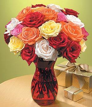 Ağrı anneler günü çiçek yolla  13 adet renkli gül