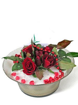 Ağrı çiçek siparişi vermek  EN ÇOK Sevenlere 7 adet kirmizi gül mika yada cam tanzim