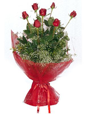 Ağrı çiçek servisi , çiçekçi adresleri  7 adet gülden buket görsel sik sadelik