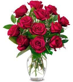 Ağrı online çiçek gönderme sipariş  1 düzine kirmizi gül sevenlere özel vazo gülleri
