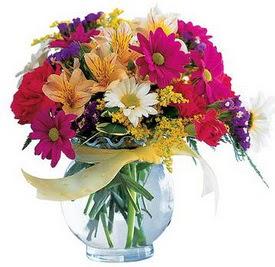 Ağrı internetten çiçek satışı  cam yada mika içerisinde karisik mevsim çiçekleri