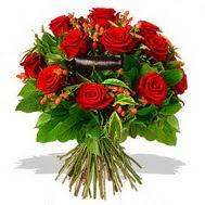9 adet kirmizi gül ve kir çiçekleri  Ağrı internetten çiçek satışı