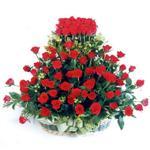 Ağrı kaliteli taze ve ucuz çiçekler  41 adet kirmizi gülden sepet tanzimi